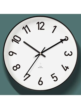 Часы настенные Xiaomi Mijia Yuihome Decor Wall Clock Black