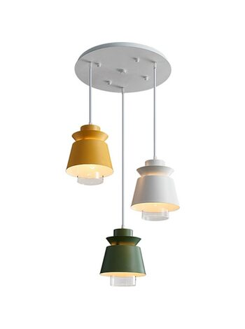 Лампа потолочная Xiaomi HuiZuo Nut Chandelier Ring Type Three-Shaped Lamp Rainbow